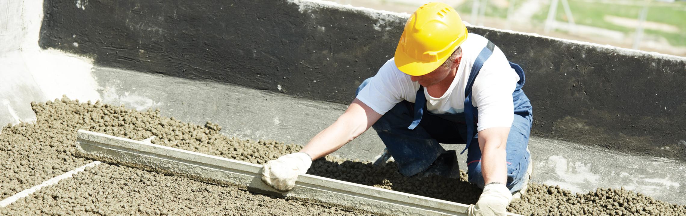 Støbning af beton fundament
